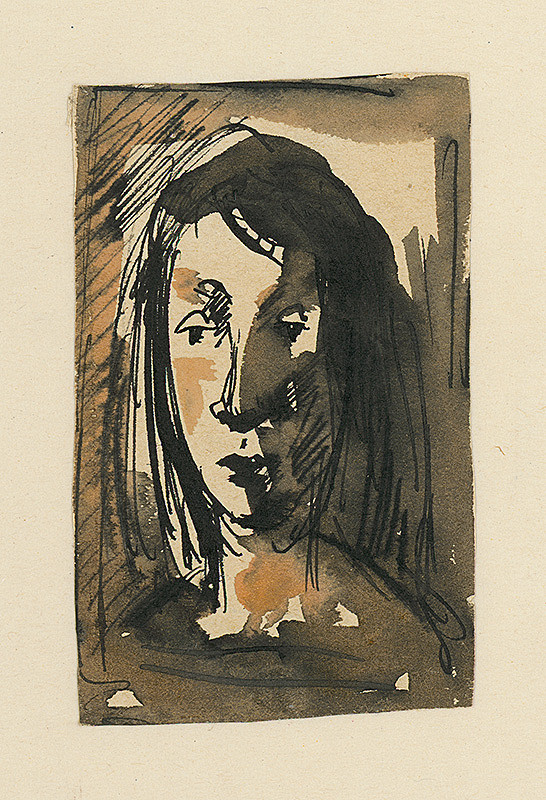 Ernest Špitz – Štúdia ženskej hlavy II.