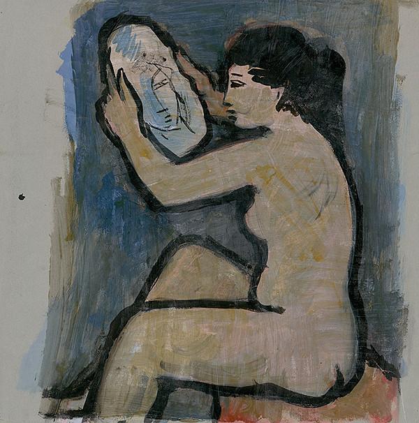 Ernest Špitz – Akt so zrkadlom