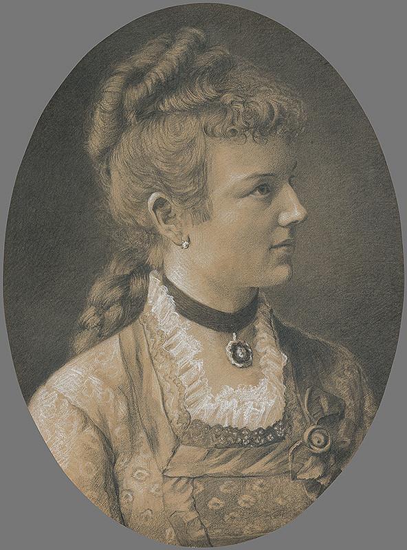Eduard Ballo – Portrét Gabriely Holécyovej, Hoffmannovej