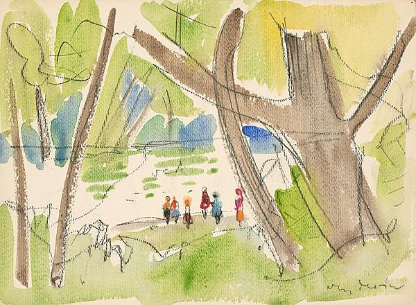Imrich Weiner-Kráľ – V parku