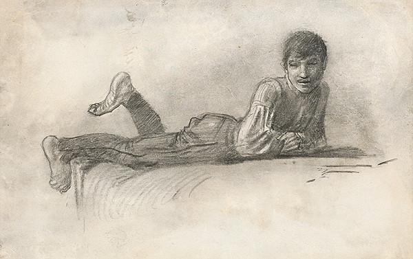 Ladislav Mednyánszky - Štúdia ležiaceho cigána