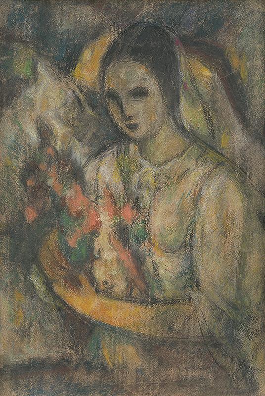 Janko Alexy – Žena s kvetinami