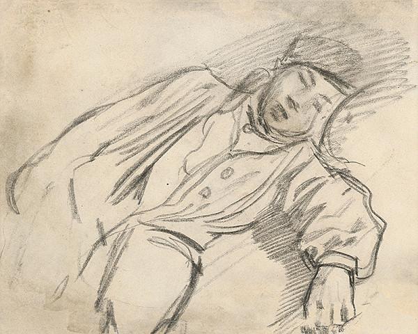 Ladislav Mednyánszky - Štúdia ležiaceho chlapca