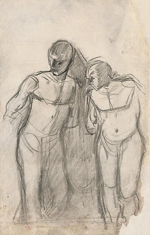 Ladislav Mednyánszky – Anatomická štúdia dvoch mužských postáv