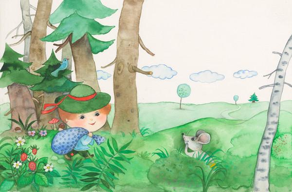 Oľga Bajusová - Ilustrácia ku knihe Mechúrik Koščúrik