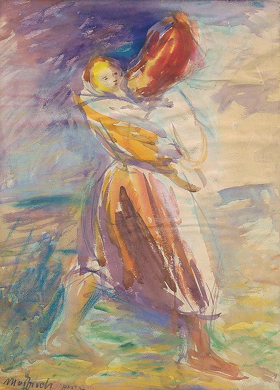Ján Mudroch – Heľpianka s dieťaťom