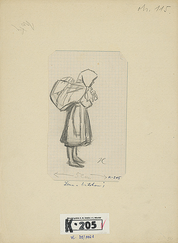Jan Hála - Žena s batohom