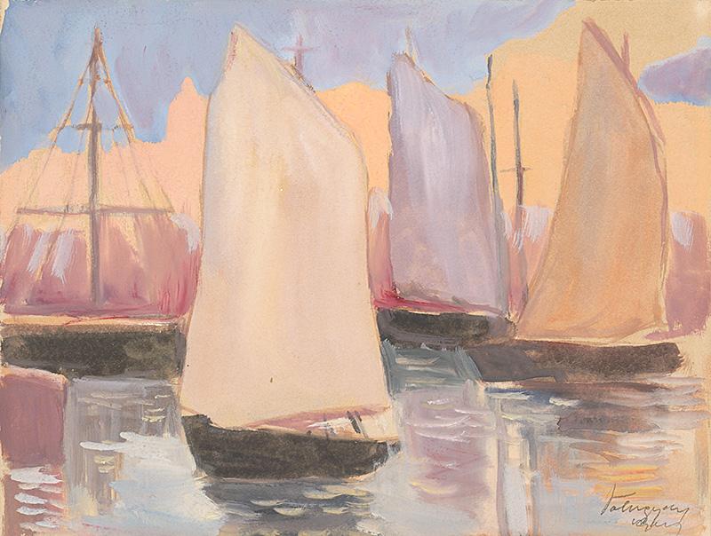 Zolo Palugyay – Plachetnica na pobreží, 1925, Liptovská galéria Petra Michala Bohúňa