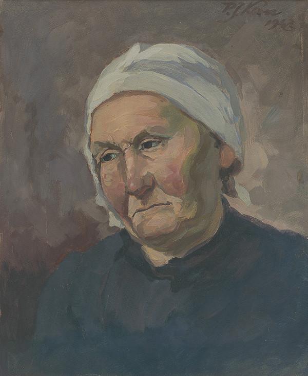 Peter Július Kern – Štúdia hlavy stareny