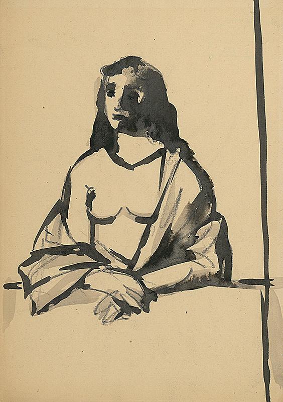 Ján Mudroch – Žena pri stole