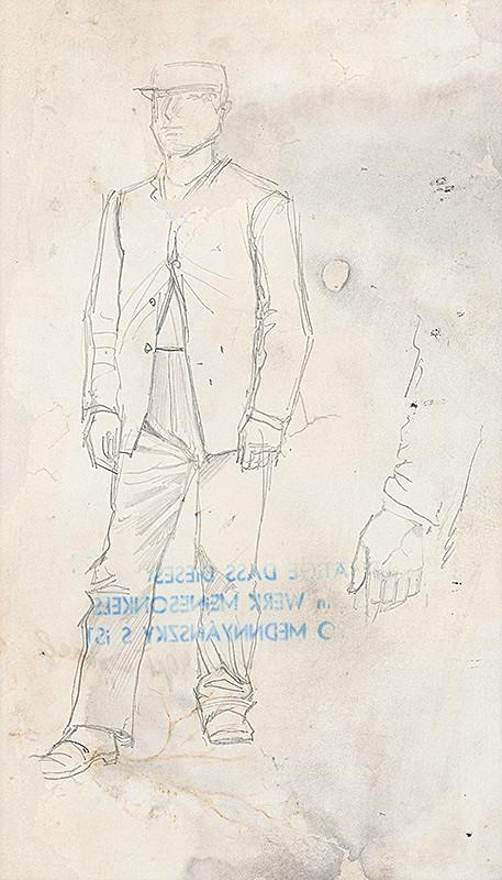 Ladislav Mednyánszky - Štúdia stojaceho muža