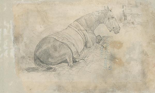 Ladislav Mednyánszky – Ležiaci kôň