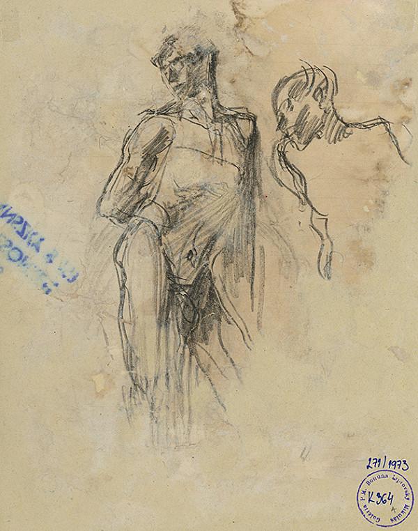 Ladislav Mednyánszky - Figurálna štúdia