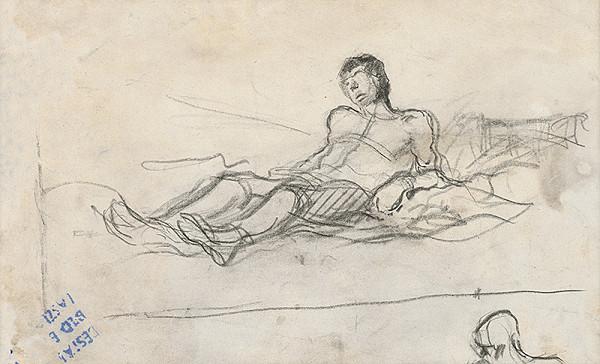 Ladislav Mednyánszky – Štúdia muža s rukami za chrbtom