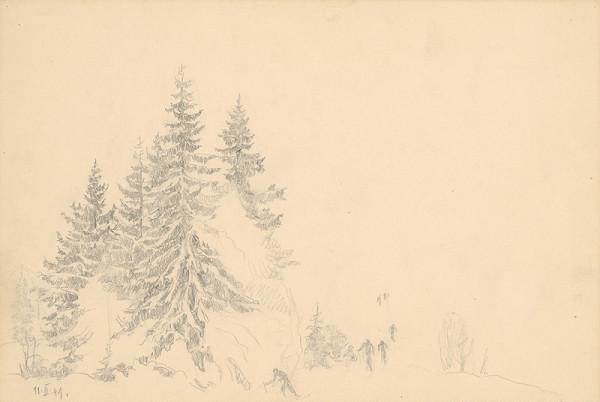 Peter Július Kern – Štúdia stromov a lyžiarov