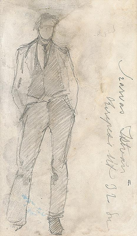 Ladislav Mednyánszky – Štúdia stojaceho muža
