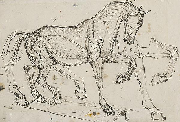 Ladislav Mednyánszky – Štúdia koňa