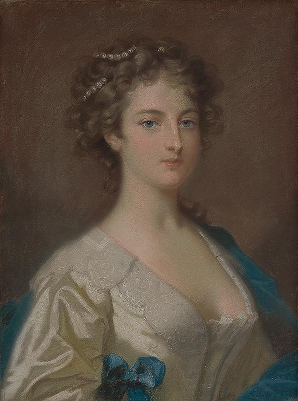 Anglický maliar z konca 18. storočia - Portrét mladej ženy