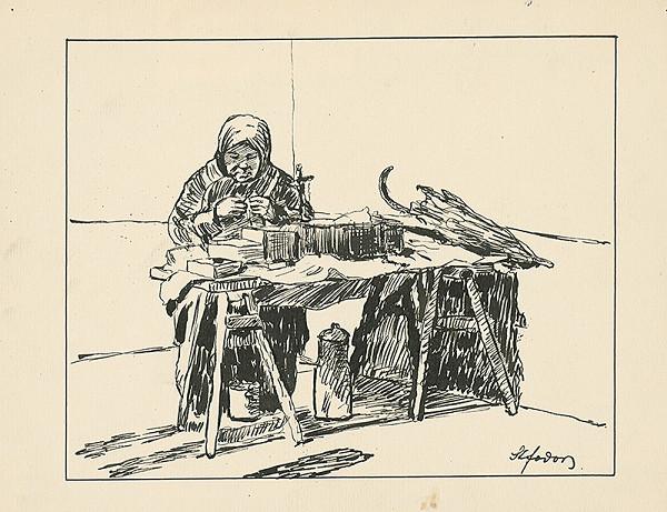 Štefan Fodor - Starenka pri pletení