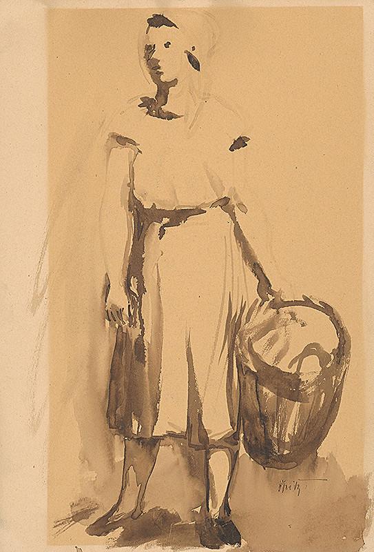 Ernest Špitz – Žena s košom