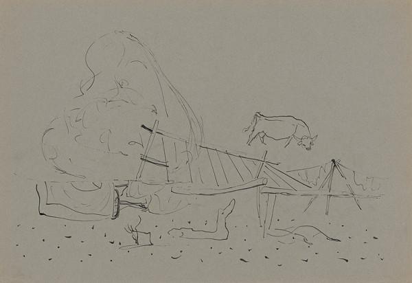 Miloš Alexander Bazovský – Štúdia pasúcej sa kravy
