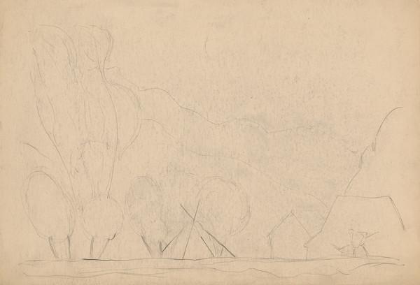 Miloš Alexander Bazovský – Štúdia stromov a postavy