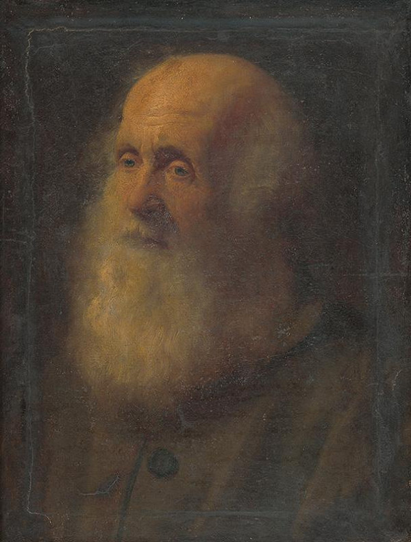 Gyula Benczúr – Portrét starca