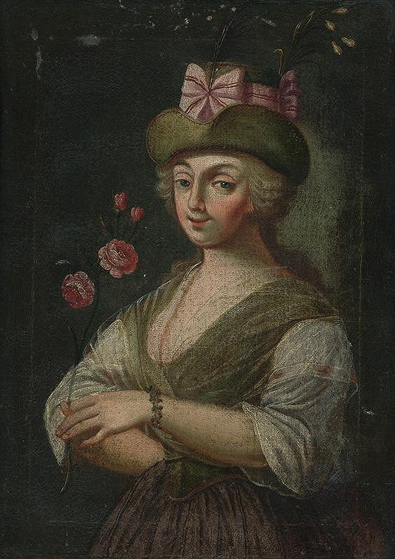Slovenský maliar z 18. storočia – Portrét ženy