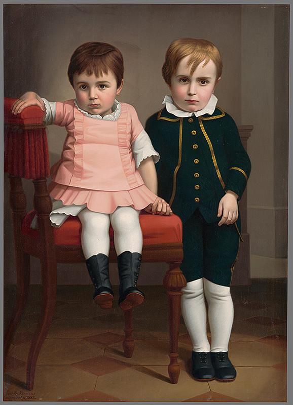Jozef Božetech Klemens – Portrét súrodencov