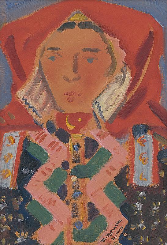 Martin Benka – Žena v kroji (Liptovské Sliače)