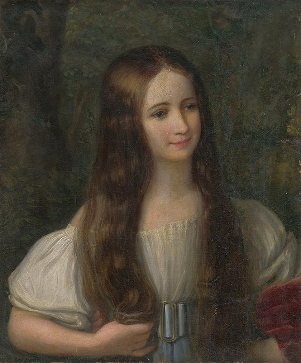 Neznámy autor – Portrét dievčatka