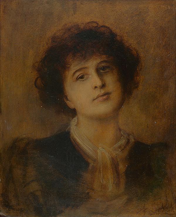 Neznámy autor - Portrét mladej ženy