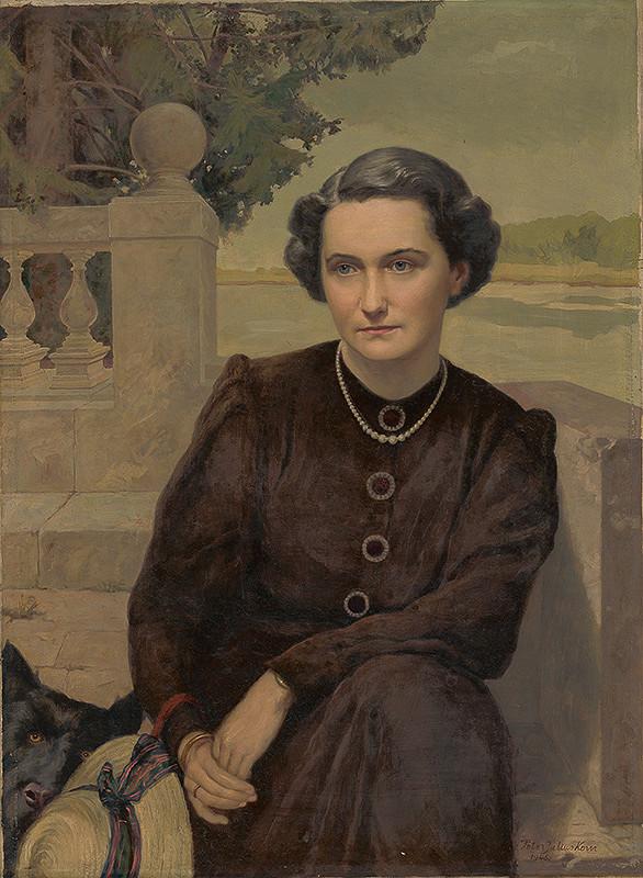 Peter Július Kern – Portrét pani Martinčekovej