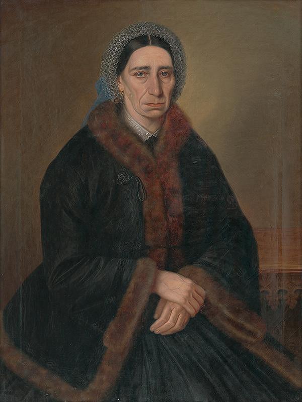 Peter Michal Bohúň - Portrét ženy - pravdepodobne Antonia Tuschina Duschnitz