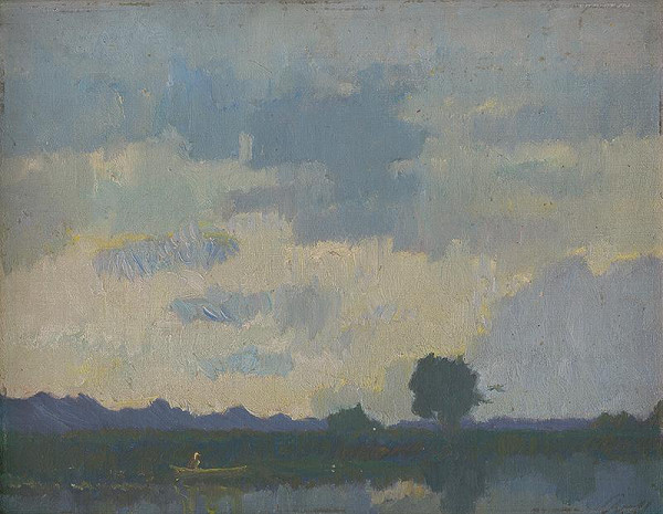Alexander Kubínyi – Krajina s jazerom