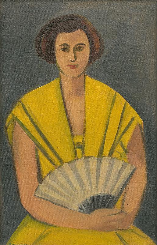 Eugen Nevan – Žena s vejárom