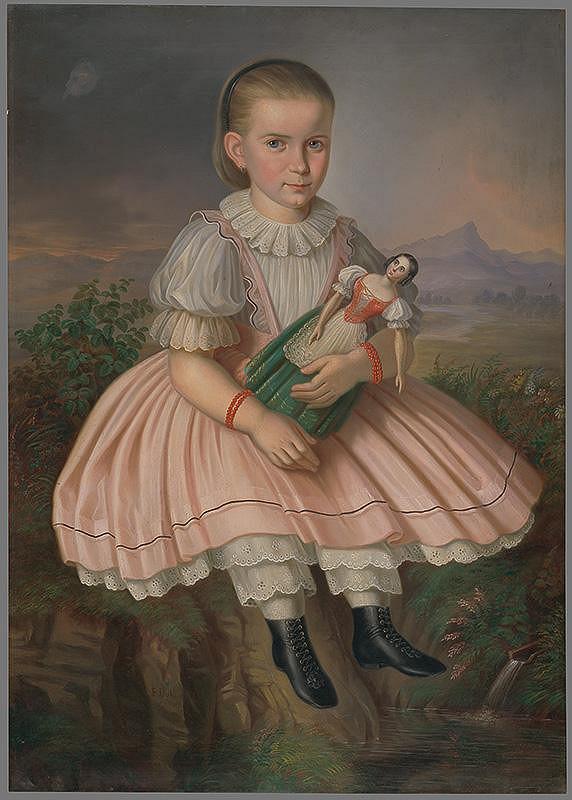 Peter Michal Bohúň – Dievčatko s bábikou