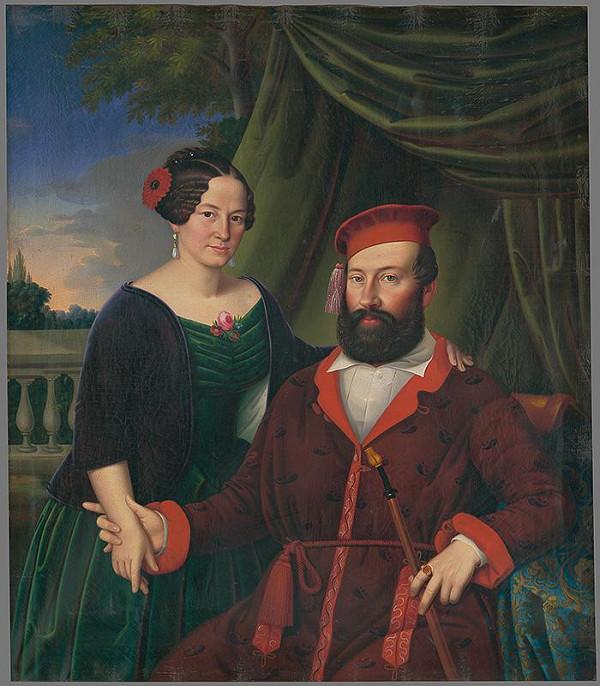 Peter Michal Bohúň, Jozef Czauczik – Podobizeň baróna Gustava Jacobsa s manželkou Matildou