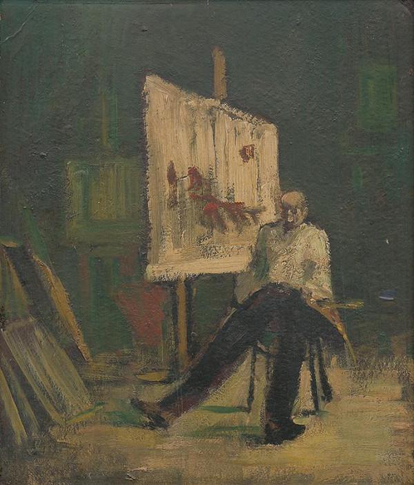 František Kudláč – Maliar v ateliéri