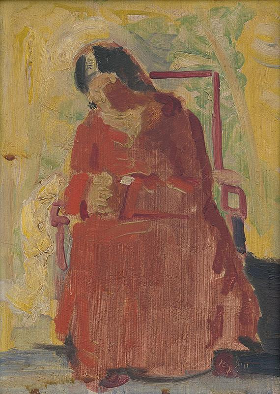 Ladislav Čemický – Sediaca žena