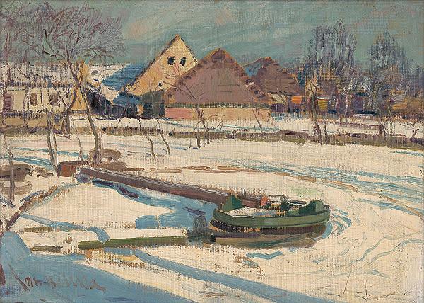 Martin Benka - Zima na dedine
