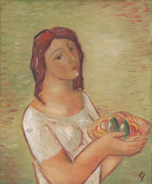 Mikuláš Galanda - Dievča s ovocím