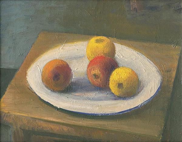 Ján Mudroch – Zátišie s jablkami