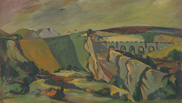 Eugen Nevan - Krajina s viaduktom