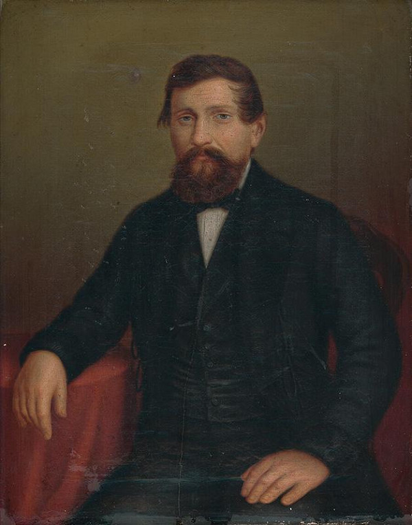 Peter Michal Bohúň - Portrét muža sediaceho pri stole