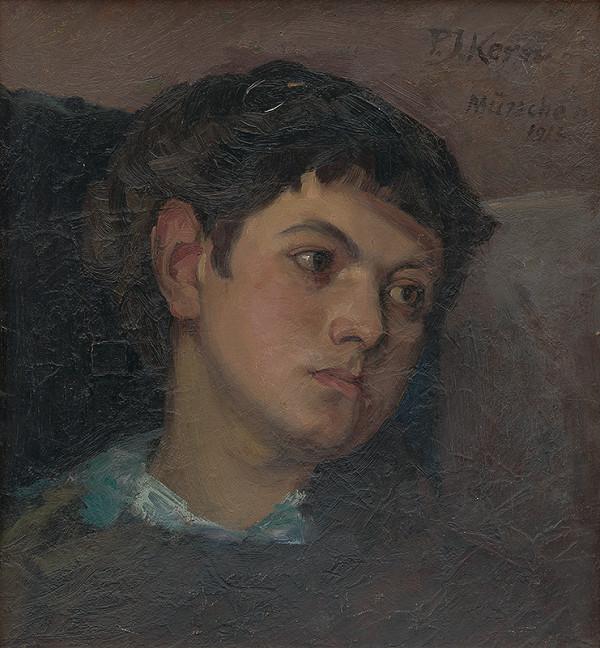 Peter Július Kern - Štúdia hlavy chlapca