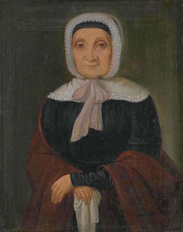 Peter Michal Bohúň – Podobizeň stojacej starenky v bielom čepci