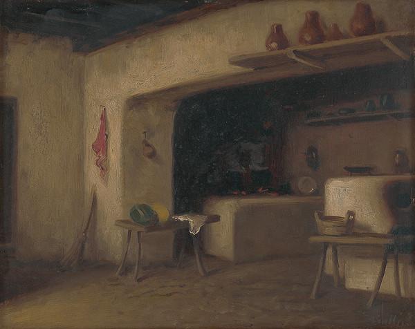 Eduard Ballo - Vnútro dedinskej izby