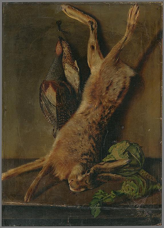 Nemecký maliar z 1. polovice 19. storočia – Zátišie so zajacom