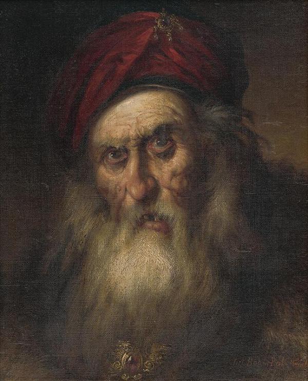 Pál Böhm – Hlava starca v turbane